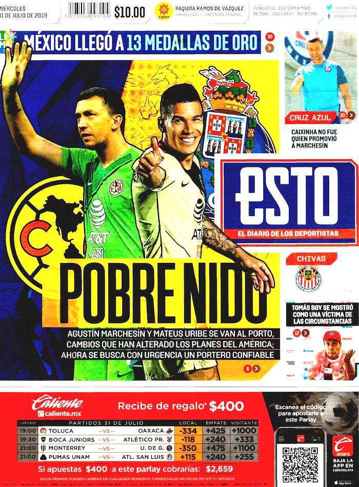 portadas de deportes 31 de julio