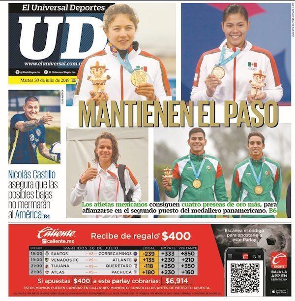 portadas de deportes 30 de julio